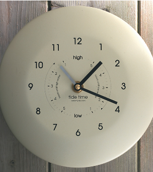 Time & Tide Cream powder coated Tideclock